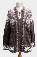 Cardigan with a motief of White Roses